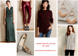 Weekly Faves for January 26, 2015: Anthropologie Love