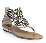 Splurge vs. Save: Rhinestone-studded Rene Caovilla Sandals